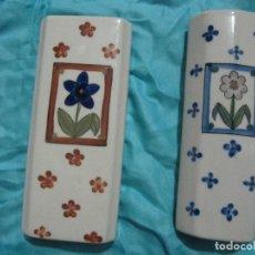 Vintage: ANTIGUA PAREJA DE HUMIDIFICADORES EN PORCELANA PINTADOS A MANO. Lote 104332075