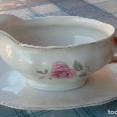 Vintage: SALSERA DE PORCELANA CON SELLO EN LA BASE. Lote 105406695