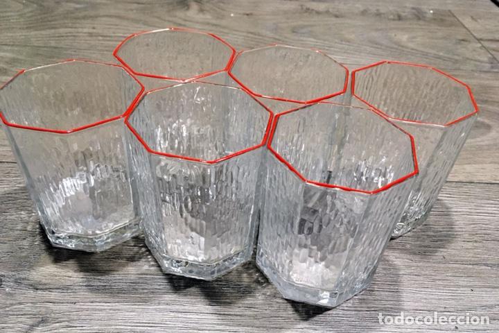 6 VASOS VINTAGE YOPLAIT (Vintage - Decoración - Cristal y Vidrio)