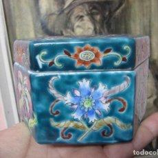 Vintage: PRECIOSO JOYERO HEXAGONAL PINTADO A MANO AÑOS 70-NUMERADA. Lote 105948239