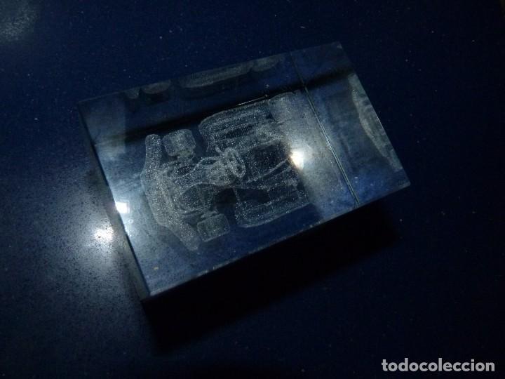 Vintage: Bonito kart carreras cristal macizo dibujo en 3D decoración coche formula 1 competición - Foto 4 - 108668611