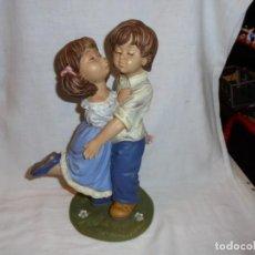 Vintage: BONITA FIGURA DE NIÑOS.MARCA GALOS DISEÑO EDICION LIMITADA 1999.0/611 DE 5000. Lote 109042511