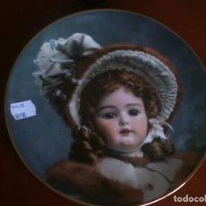 Vintage: PLATO DE PORCELANA CON ILUSTRACION DE MUÑECA EDICION LIMITADA. Lote 109186175