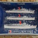 Vintage: CENICERO DE CRISTAL. BUQUES BARCOS CARNIVAL CRUISE LINES. TSS MARDI GRAS CARNIVALE FESTIVALE. 170 GR. Lote 109539391