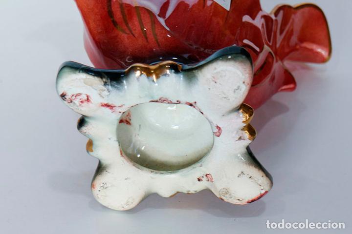 Vintage: Centro de mesa jarrón cerámica vidriada nacarada kitsch - Foto 6 - 109764851