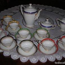Vintage: JUEGO DE CAFÉ FIRMADA YÄGER (ALEMANIA) ORO. AÑOS 40. MUY FINO.. Lote 110199903