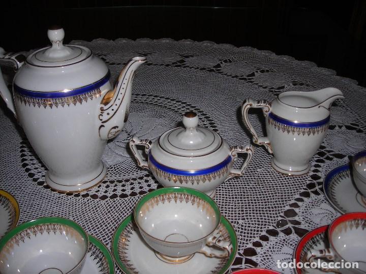 Vintage: JUEGO DE CAFÉ FIRMADA YÄGER (Alemania) Oro. Años 40. MUY FINO. - Foto 2 - 110199903