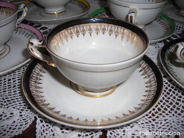 Vintage: JUEGO DE CAFÉ FIRMADA YÄGER (Alemania) Oro. Años 40. MUY FINO. - Foto 5 - 110199903