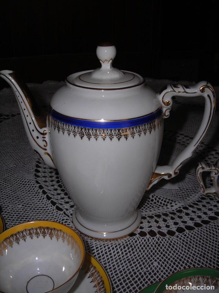 Vintage: JUEGO DE CAFÉ FIRMADA YÄGER (Alemania) Oro. Años 40. MUY FINO. - Foto 6 - 110199903