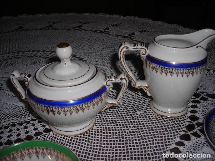 Vintage: JUEGO DE CAFÉ FIRMADA YÄGER (Alemania) Oro. Años 40. MUY FINO. - Foto 7 - 110199903