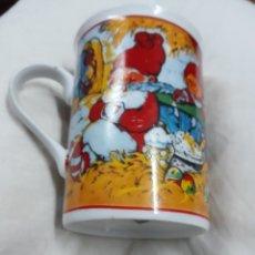 Vintage: TAZA CON PAPÁ NOEL DESCANSANDO DORMIDO. Lote 110422630