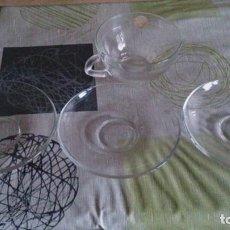 Vintage: 1 TAZA I 3 PLATOS DURALEX . Lote 110638439