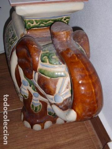 Vintage: GRAN ELEFANTE DE CERAMICA CON LA AZULEJO DE LA SANTA FAZ - Foto 6 - 111036279