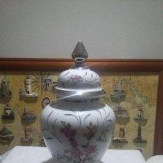 Vintage: PRECIOSO TIBOR DE PORCELANA Y PLATA. Lote 111066687