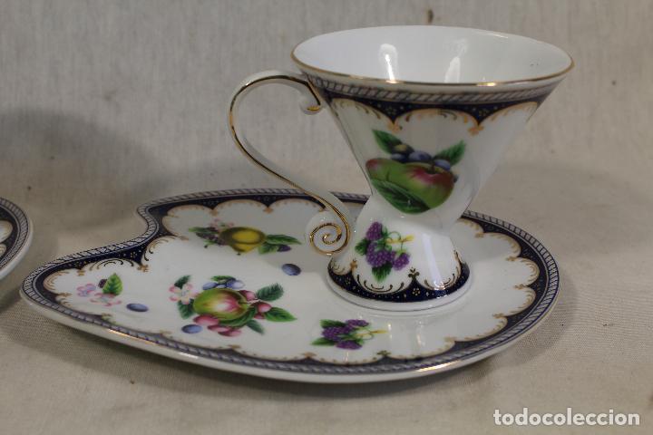 Vintage: Juego 2 Tazas Café c/ Platillo en porcelana the leonardo collection - Foto 3 - 111314267