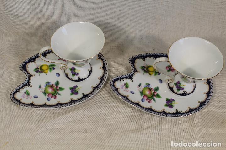 Vintage: Juego 2 Tazas Café c/ Platillo en porcelana the leonardo collection - Foto 4 - 111314267