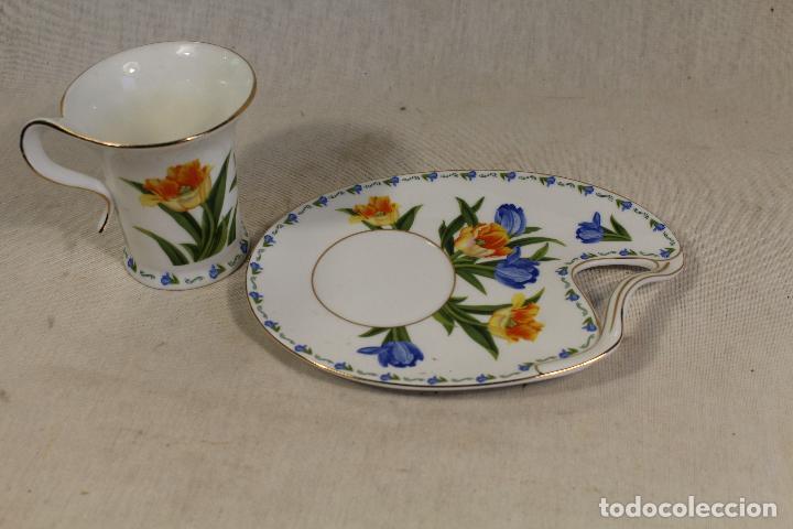Vintage: Taza Café c/ Platillo en porcelana the leonardo collection - Foto 3 - 111314351