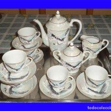 Vintage: VINTAGE JUEGO DE CAFÉ/TE PORCELANA FINA CHINA 15 PIEZAS EN LA BASE SE VE A TRASLUZ LA FIGURA . Lote 111541915