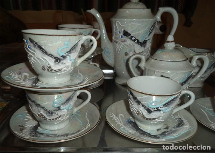 Vintage: VINTAGE JUEGO DE CAFÉ/TE PORCELANA FINA CHINA 15 PIEZAS EN LA BASE SE VE A TRASLUZ LA FIGURA - Foto 2 - 253556870