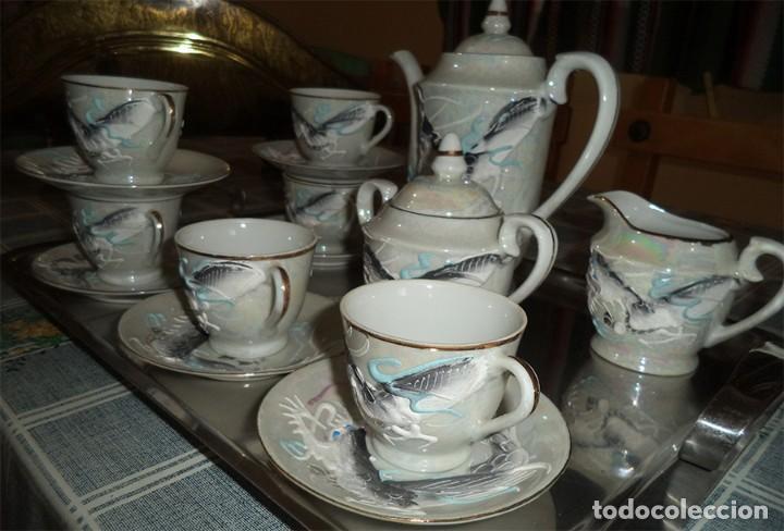 Vintage: VINTAGE JUEGO DE CAFÉ/TE PORCELANA FINA CHINA 15 PIEZAS EN LA BASE SE VE A TRASLUZ LA FIGURA - Foto 3 - 253556870