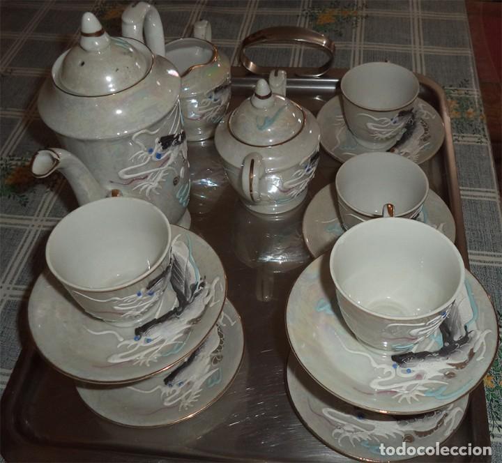 Vintage: VINTAGE JUEGO DE CAFÉ/TE PORCELANA FINA CHINA 15 PIEZAS EN LA BASE SE VE A TRASLUZ LA FIGURA - Foto 4 - 253556870