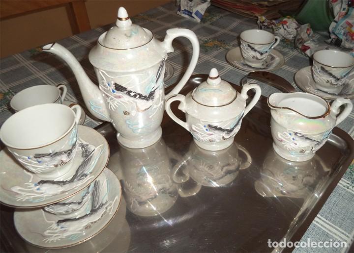 Vintage: VINTAGE JUEGO DE CAFÉ/TE PORCELANA FINA CHINA 15 PIEZAS EN LA BASE SE VE A TRASLUZ LA FIGURA - Foto 5 - 253556870