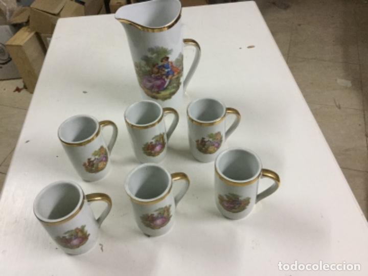 JUEGO REFRESCO (Vintage - Decoración - Porcelanas y Cerámicas)