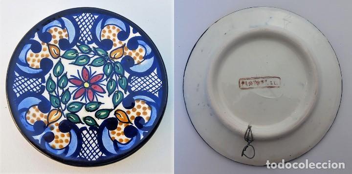 PLATO CERÁMICA DECORACIÓN FIRMADO PLATART - MANISES VALENCIA (Vintage - Decoración - Porcelanas y Cerámicas)
