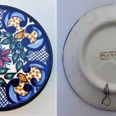 Vintage: PLATO CERÁMICA DECORACIÓN FIRMADO PLATART - MANISES VALENCIA. Lote 111889559