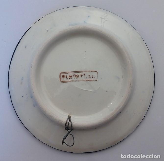 Vintage: PLATO CERÁMICA DECORACIÓN FIRMADO PLATART - MANISES VALENCIA - Foto 4 - 111889559