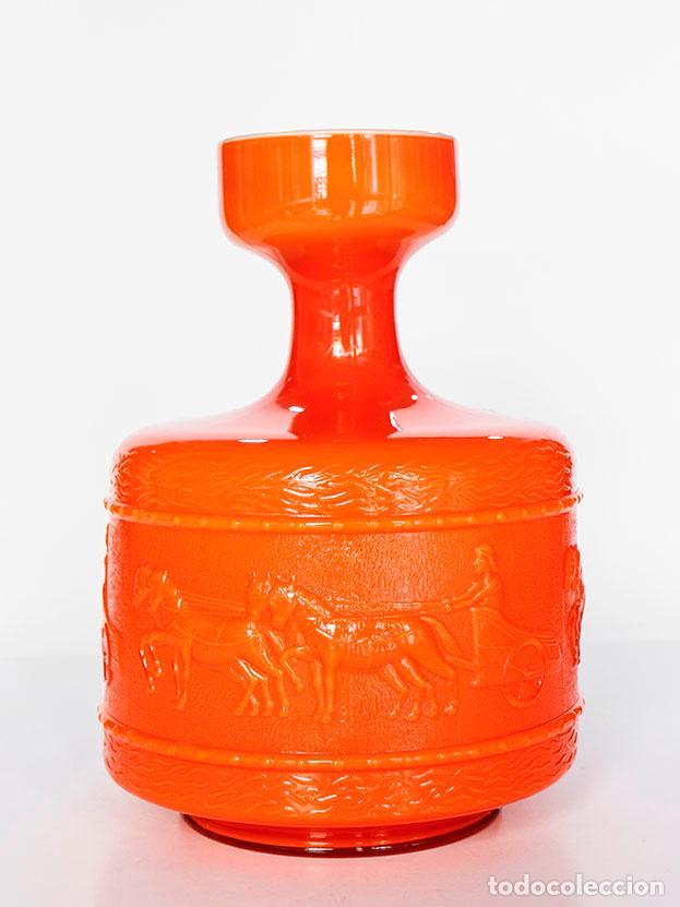 Vintage: Jarrón vintage cristal doblado 1970s - Foto 4 - 112132735