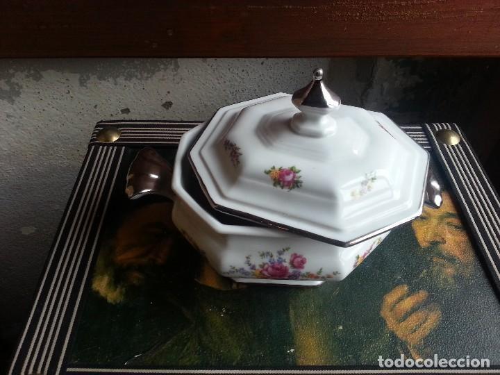 BOMBONERA - CARAMELOS - PORCELANA . (Vintage - Decoración - Porcelanas y Cerámicas)