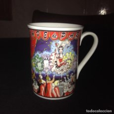 Vintage - Preciosa taza de porcelana la vie parisienne. windsor fine bone china. - 112741703