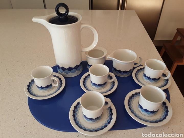 JUEGO DE CAFE DE PORCELANA PONTESA (Vintage - Decoración - Porcelanas y Cerámicas)