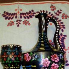 Vintage: JARRÓN Y VASO VLNTAGE. Lote 113196523