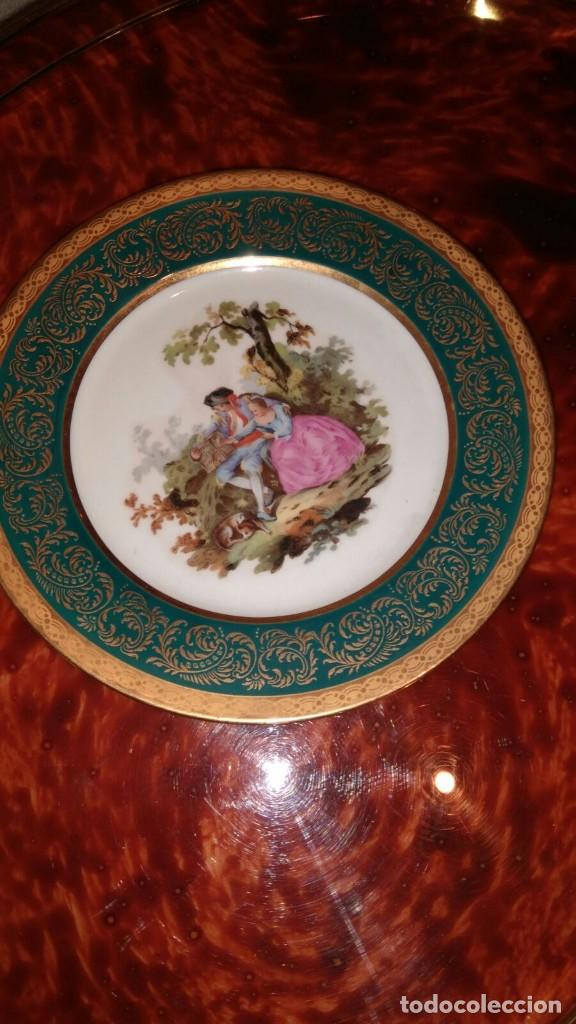 PAREJA PLATOS LIMOGES (Vintage - Decoración - Porcelanas y Cerámicas)