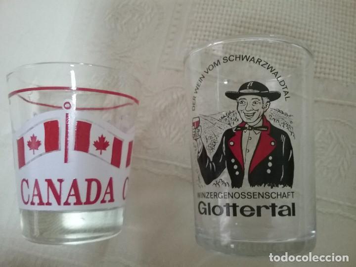 DOS PEQUEÑOS VASOS CHUPITOS. CANADA. GLOTTERTAL (Vintage - Decoración - Cristal y Vidrio)