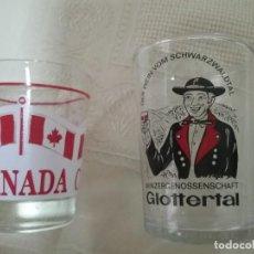 Vintage: DOS PEQUEÑOS VASOS CHUPITOS. CANADA. GLOTTERTAL. Lote 114065047