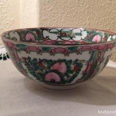 Vintage: VINTAGE CUENCO DE PORCELANA MACAU - PINTADO MANO - ROSAS. Lote 114729083