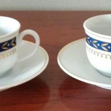 Vintage: LOTE 2 CONJUNTOS / JUEGO TACITA CAFÉ Y PLATO CERÁMICA/PORCELANA. Lote 114832899