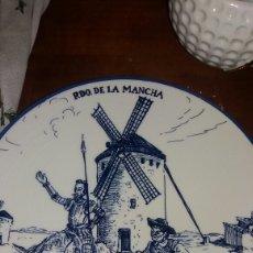 Vintage: ANTIGUO PLATO RECUERDO DE LA MANCHA. Lote 115309751