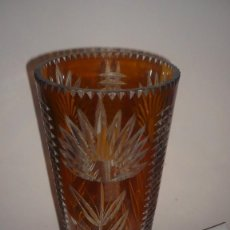 Vintage: VASO GRANDE CRISTAL TALLADO. Lote 115498459