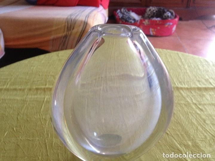JARRON DE CRISTAL MUY PESADO (Vintage - Decoración - Cristal y Vidrio)