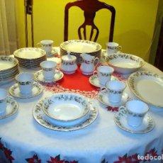 Vintage: PRECIOSA VAJILLA NAVIDEÑA DE FINA PORCELANA. Lote 116877939