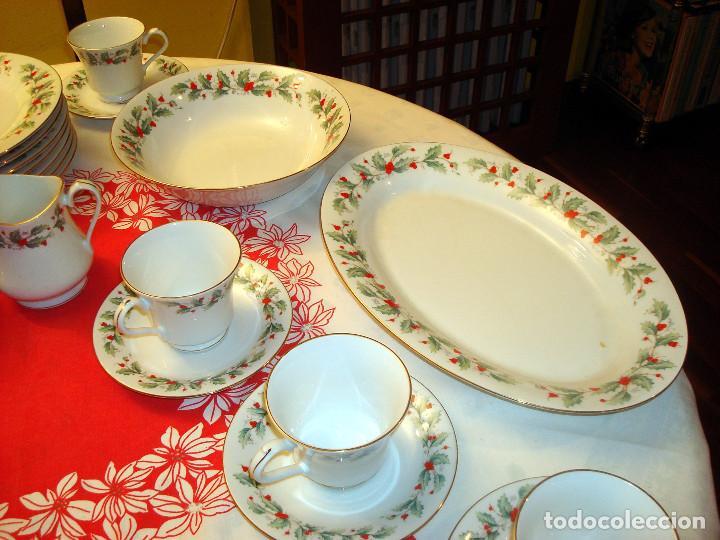 Preciosa vajilla navide a de fina porcelana comprar porcelana y cer mica vintage en - Vajillas navidenas ...