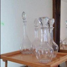 Vintage: 4 BOTELLONES DE CRISTAL CON TAPÓN. Lote 116994123