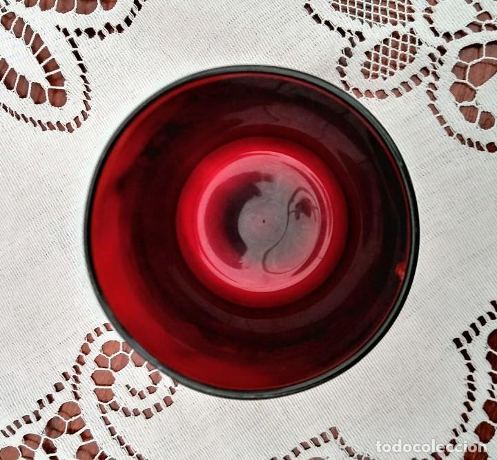 Vintage: 6 copas originales años 60 rojas rubí vintage diámetro 6,5 cm altura 11,5 cm IMPECABLE ESTADO - Foto 5 - 117447063
