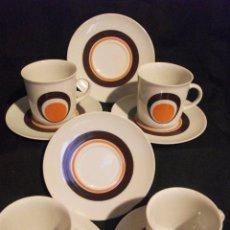 Vintage: 4 TAZAS Y 6 PLATOS DE CAFE VINTAGE - CON MARCA DE WINTERLING RÖSIAU BAVARIA. Lote 117456499