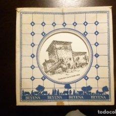 Vintage: LOTE DE 2 PLATOS DECORACIÓN DE CASERÍOS VASCOS OBSEQUIO DE LA LECHE BEYENA DE BILBAO AÑOS 70. Lote 117488091