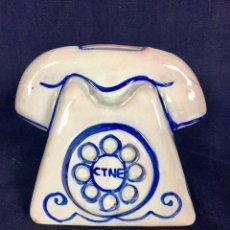 Vintage: TELÉFONO HUCHA PORCELANA CERÁMICA VIDRIADA CON LA PUBLICIDAD DE CTNE TELEFÓNICA AÑOS 60 70 S. Lote 117599167